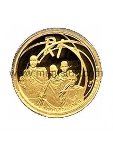 2002 The Tswana People(R1, 1/10 oz, 24 ct gold) - 2002 R1 Gold Coin - Tswana People The Proof 1/10 oz 24 carat Gold coin. Limite