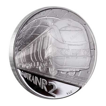 2012 Gautrain, R2, Silver, Proof - Single Coin - R2 Sterling Silver (Proof) - Limited Edition: 1000 Each single coin is packaged