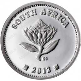 """2012 Gautrain, TICKEY, Silver, UNC - Single Coin -GAUTRAIN - 2 1/2c TICKEY 2012 """"Trains of South Africa"""" Series (UNC) - Limited"""