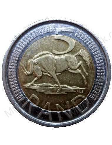 Five Rand, South Africa, 2011, Bimetal