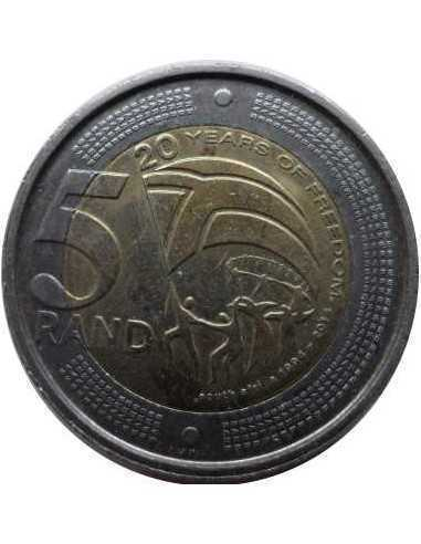 Five Rand, South Africa, 2014, Bimetal, Commemorative