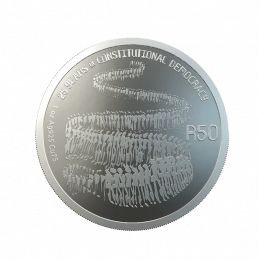 South Africa, 2019 Sterling Silver Coin R50