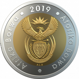 Five Rand, South Africa, 2019, Bimetal, Obverse