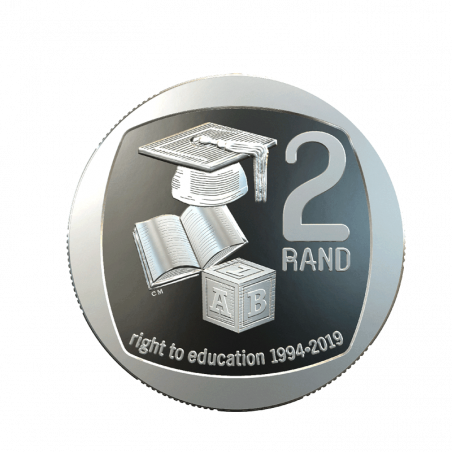Two Rand, South Africa, 2019 Right to education Reverse