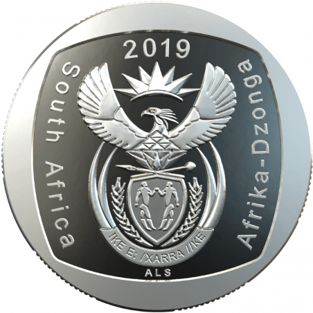 Two Rand, South Africa, 2019 Freedom of Movement and Residence Obverse