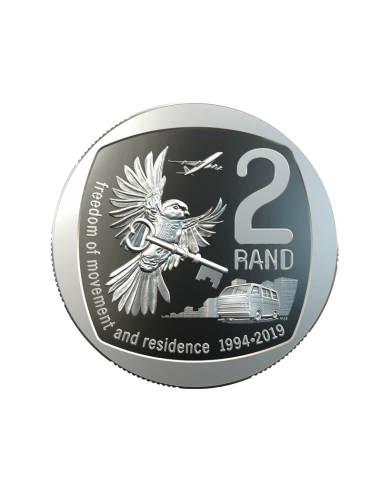 Two Rand, South Africa, 2019 Freedom of Movement and Residence Reverse