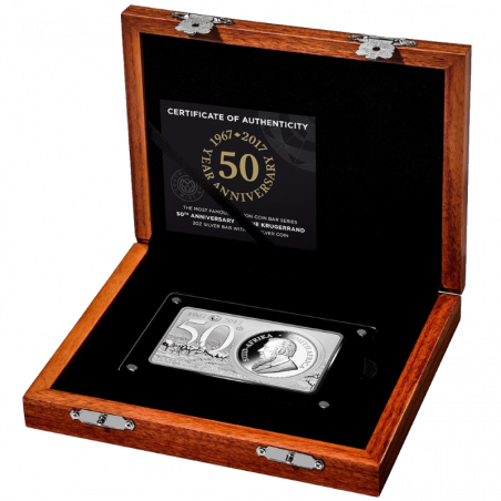 Krugerrand, South Africa, 2017, (50th Anniversary of the Krugerrand - Silver) Box