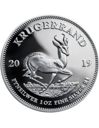 1oz Krugerrand, South Africa, 2019, Silver Reverse