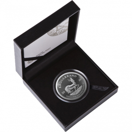 2oz Krugerrand, South Africa, 2020, Silver, Box