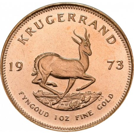 1oz Krugerrand, South Africa, 1973, Gold, Reverse