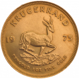 1oz Krugerrand, South Africa, 1975, Gold, Reverse