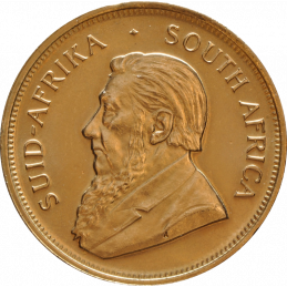 1oz Krugerrand, South Africa, 1975, Gold, Obverse