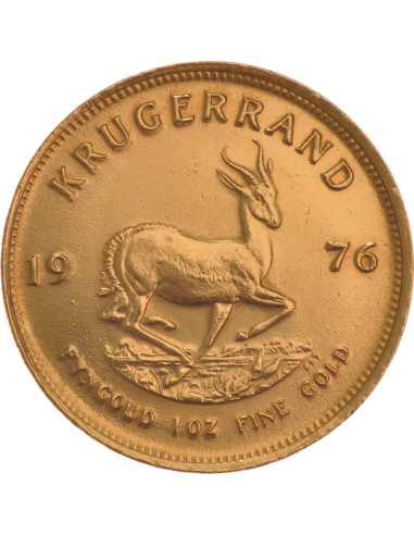 1oz Krugerrand, South Africa, 1976, Gold, Reverse