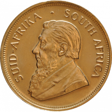1oz Krugerrand, South Africa, 1976, Gold, Obverse