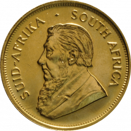 1oz Krugerrand, South Africa, 1968, Gold, Obverse