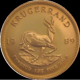 1oz Krugerrand, South Africa, 1989, Gold, Reverse