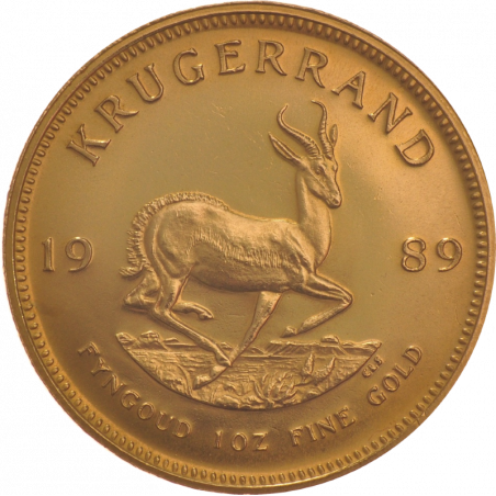 1oz Krugerrand, South Africa, 1989, Gold, Reverse