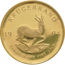 1oz Krugerrand, South Africa, 1994, Gold, Reverse