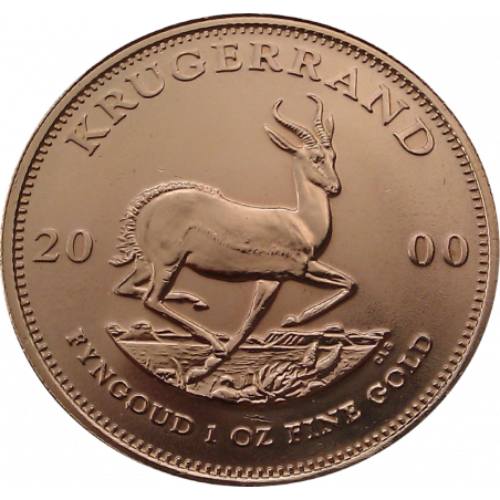 1oz Krugerrand, South Africa, 2000, Gold, Reverse