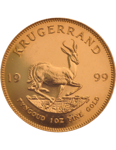 1oz Krugerrand, South Africa, 1999, Gold, Reverse
