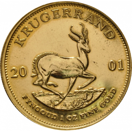 1oz Krugerrand, South Africa, 2001, Gold, Reverse