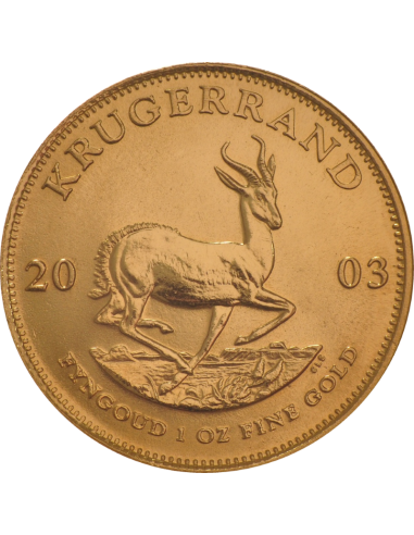 1oz Krugerrand, South Africa, 2003, Gold, Obverse