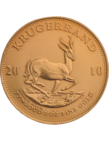 1oz Krugerrand, South Africa, 2010, Gold, Reverse