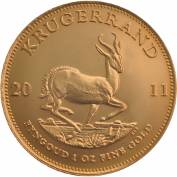 1oz Krugerrand, South Africa, 2011, Gold, Reverse