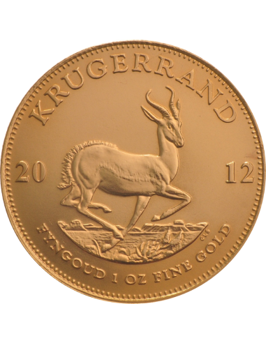 1oz Krugerrand, South Africa, 2012, Gold, Reverse
