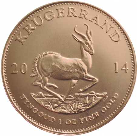 1oz Krugerrand, South Africa, 2014, Gold, Reverse