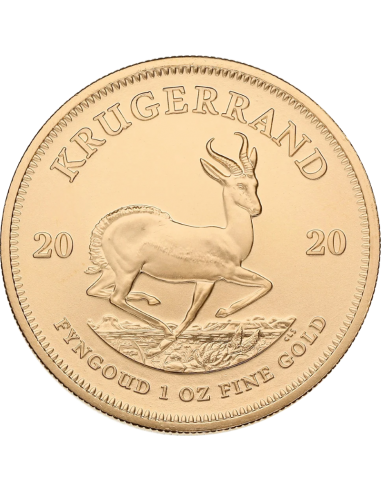 1oz Krugerrand, South Africa, 2020, Gold, Reverse