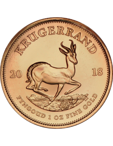 1oz Krugerrand, South Africa, 2018, Gold, Reverse
