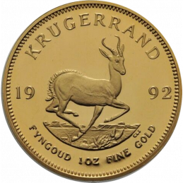 1oz Krugerrand, South Africa, 1992, Gold, Reverse