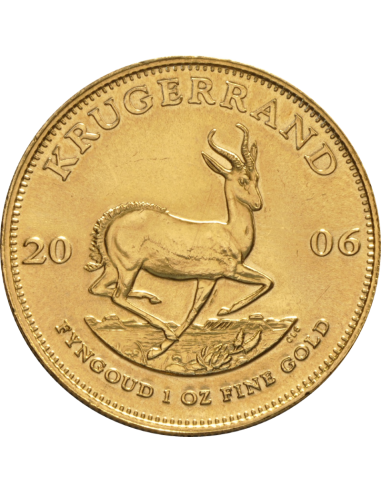 1oz Krugerrand, South Africa, 2006, Gold, Reverse
