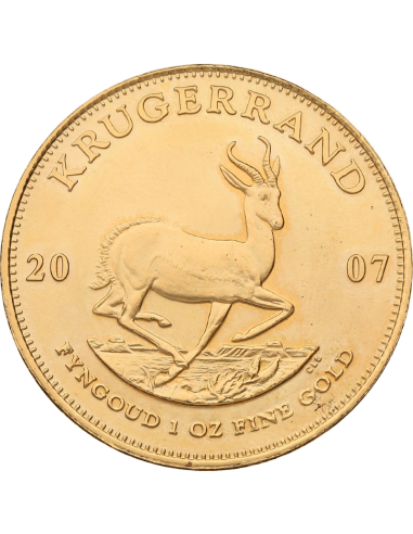 1oz Krugerrand, South Africa, 2007, Gold, Reverse