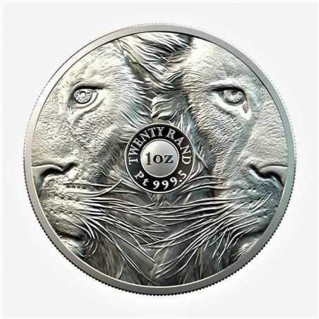 1oz R20, South Africa, 2019, Platinum, Lion, Obverse