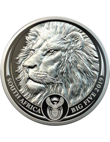 1oz R20, South Africa, 2019, Platinum, Lion, Reverse