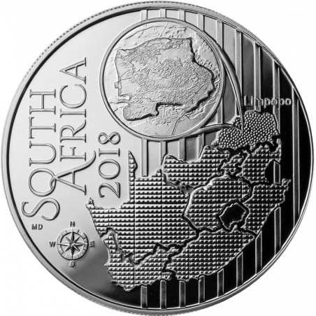 2018, South Africa , R2, Silver, Proof - Cape Griffon, obverse