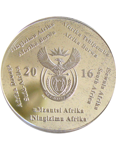 2016, South Africa , R2, Silver, Proof - Dolos, Obverse