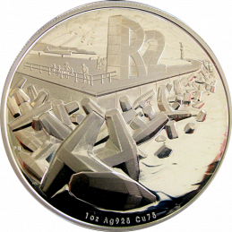 2016, South Africa , R2, Silver, Proof - Dolos, Reverse