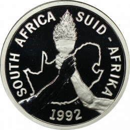 2 Rand, South Africa, 1992, Barcelona Olympics, Proof, Obverse