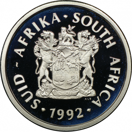 2 Rand, South Africa, 1992, Coin Technology, Proof, Obverse