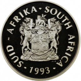 2 Rand, South Africa, 1993, Silver, obverse, Proof - Peace