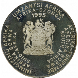 2 Rand, South Africa, 1995, Silver, Proof, Reverse - Food and Agriculture