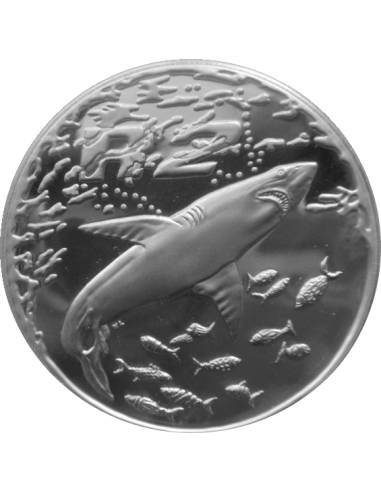 2 Rand, South Africa, 1999, Silver, Reverse, Proof - Great White Shark