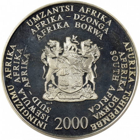 2 Rand, South Africa, 2000, Silver, obverse, Proof - Octopus