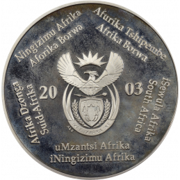 2 Rand, South Africa, 2003, Silver, obverse, Proof - Eagles
