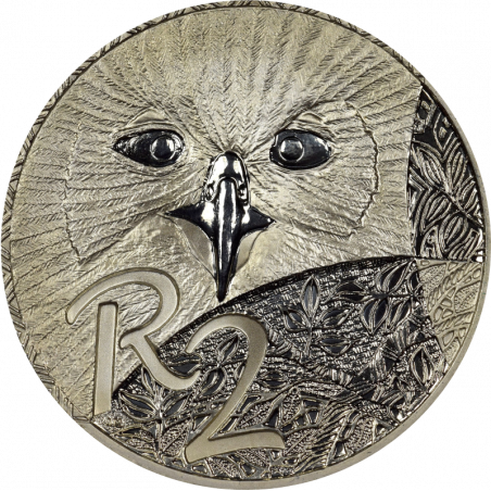 2 Rand, South Africa, 2004, Silver, reverse, Proof - African Owls
