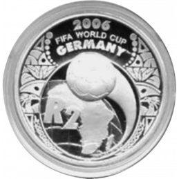 2 Rand, South Africa, 2005, Silver, Reverse, Proof - World Cup Soccer