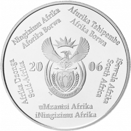 2 Rand, South Africa, 2006, Silver, Obverse, Proof - Secretary Bird